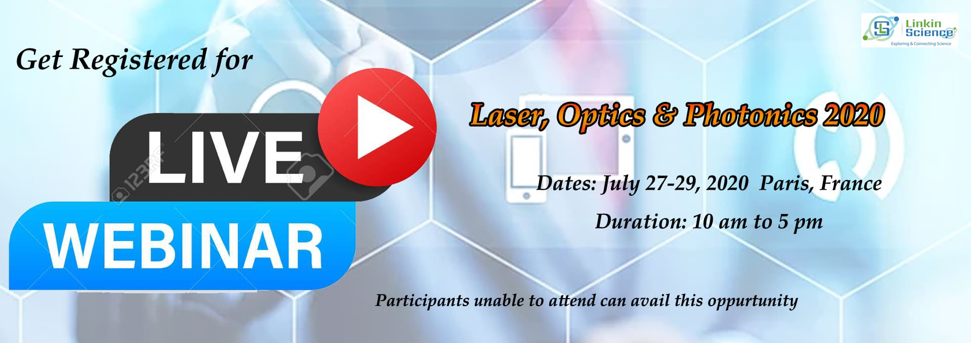 Laser optics and photonics 2020 live webinar opportunity